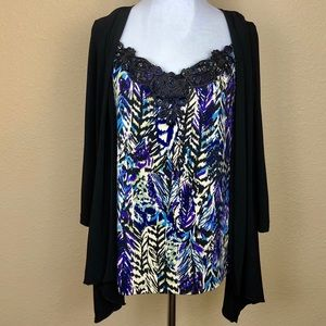 Susan Lawrence Slinky Cardigan with Top